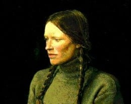 Title: Braids, 1979  by Andrew Wyeth