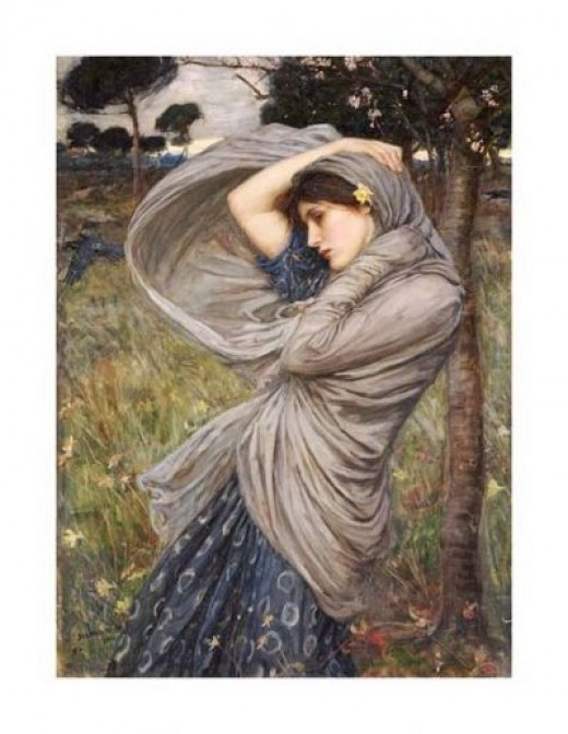 Boreas by J W Waterhouse