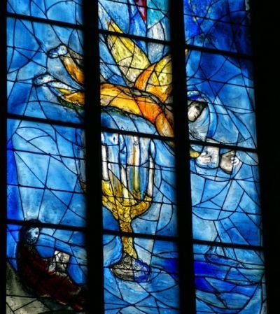 Church windows in St Stephan, a catholic church in Mainz.
