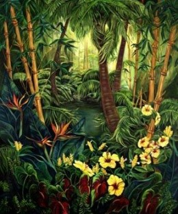 """My painting """"Hideaway"""" commissioned oil 5x6 feet"""