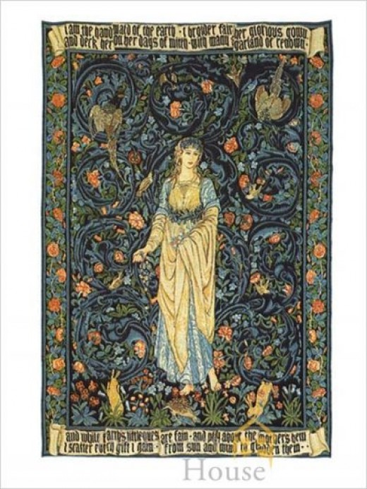Tapestry Design by Edward Burne-Jones