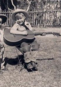 Dennis as a little boy loved the guitar.  He had music in his soul ...
