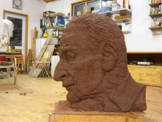 Jane McAdam Freud's Sculpture of Her Father