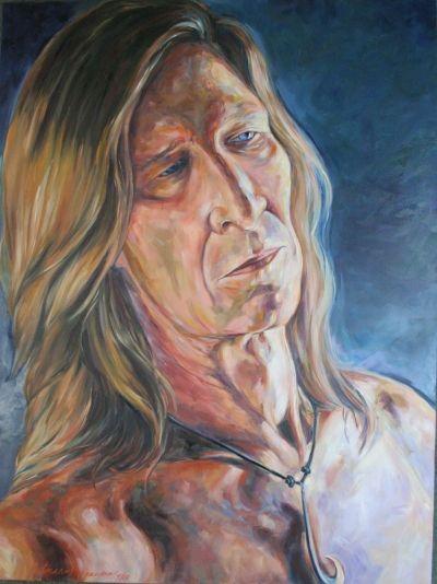 """Mr Magnusen"" 30x40x2 oil on canvas by Kathy Ostman-Magnusen"