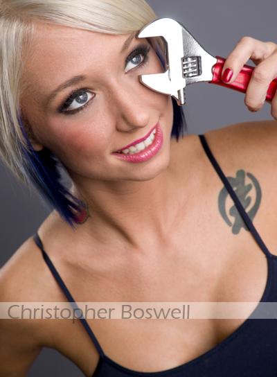Christen Stoddard adjusting her focus