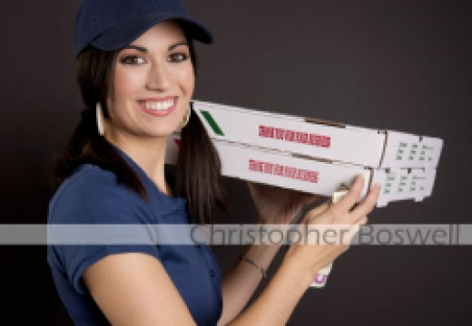 Megan Kumakura Playing a Pizza Delivery Person