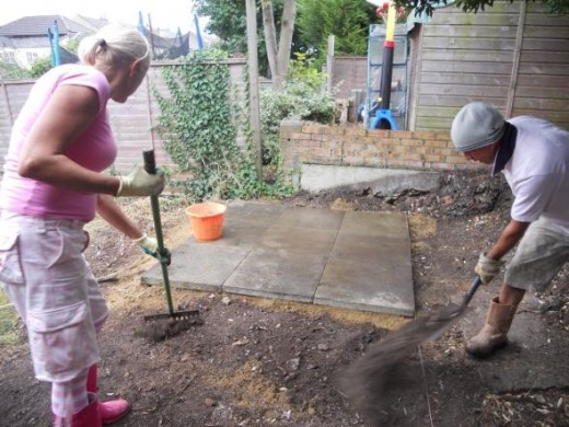 Preparation for shed base
