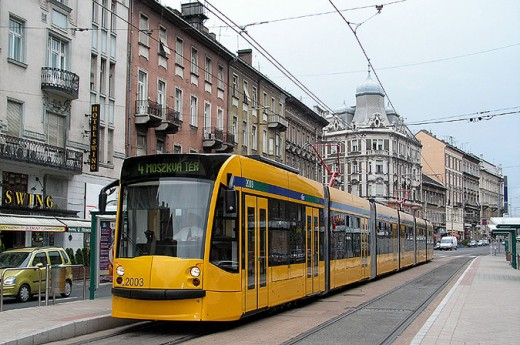 Siemens Combino tram, the longest tram in Europe.
