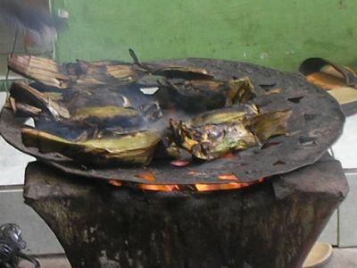 roasted tapey singkong - banana leave