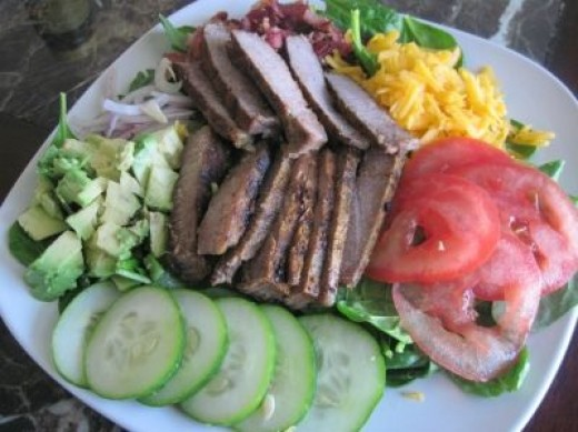 A fresh and delicious steak salad!