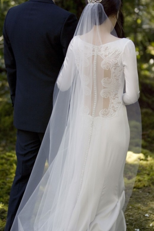 Another view of the stunning back of Bella's dress.