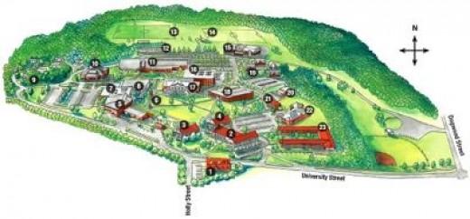 The Main Campus of John Brown University