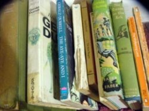 An eclectic handful of Gerald Durrell's books from my bookshelf