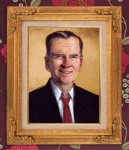 The Original Portrait of Cave Johnson