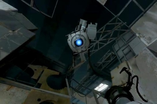 "Wheatley the Personality Sphere. ""Oh good, you're back. I thought maybe you'd tried to escape without me! """