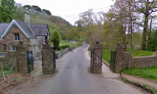 The gate into Dartington Hall Estate, Totnes