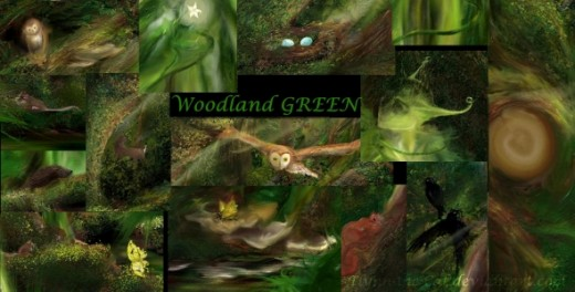 Details from 'Woodland Green'