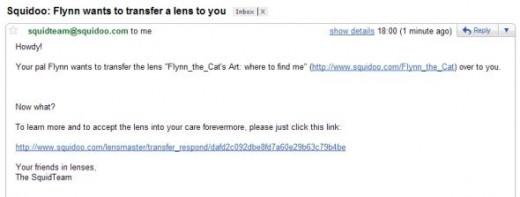 Lens Transfer Email
