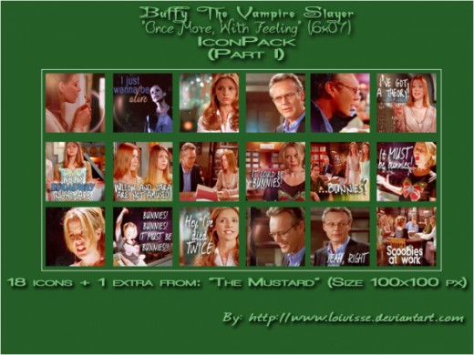 BtVS Once More With Feeling icons - P1