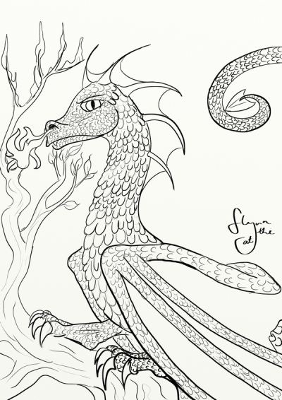 Scaly Firebreathing Dragon