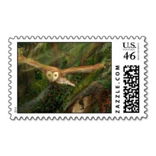 Woodland Green: Barn Owl in Flight