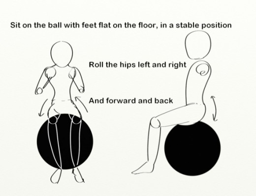 Exercises fore scoliosis: Roll the hips back and forwoard, and side to side