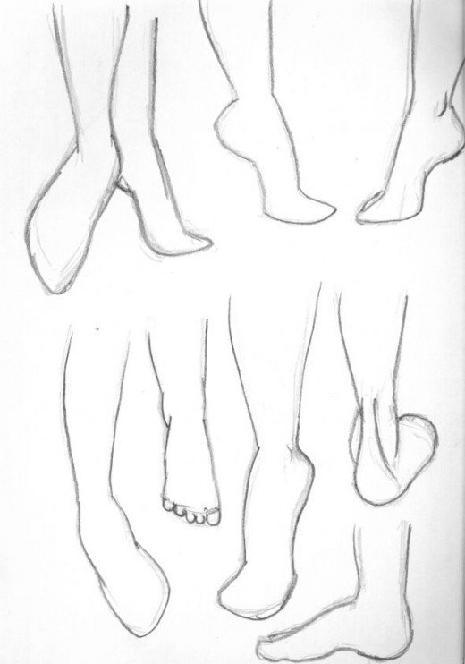 Sketches of feet