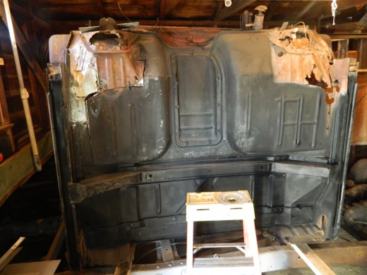The cross member was rebuilt and all sections of the cab undercoated and rubberized to protect the cab from future rust problems.