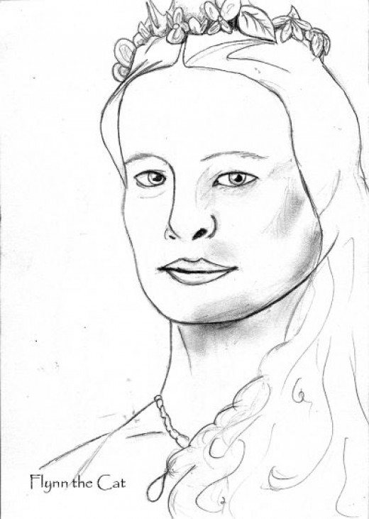 Robin Penn-Wright, as Buttercup from The Princess Bride.