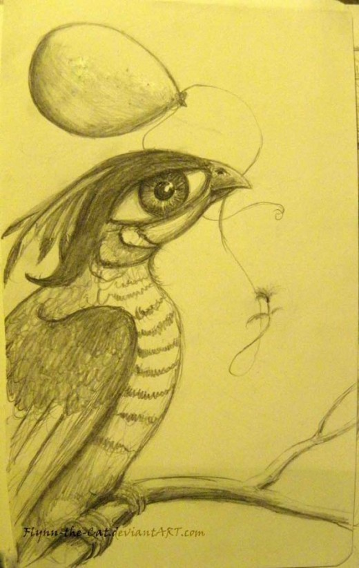 Surreal Eye Bird on Moleskine