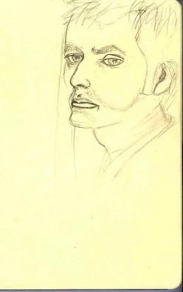 Dr. Who, moleskine pencil sketch