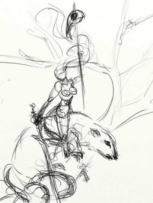Fae sketch: rats and fairies