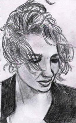 Julia Deans pencil sketch