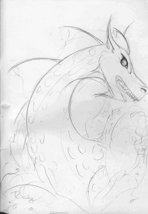 Another Sea Serpent SketchSerpent of V
