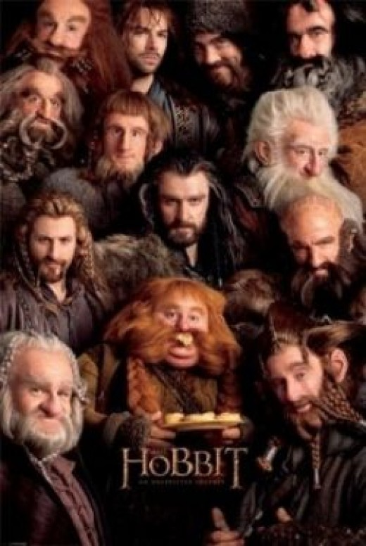 """The Hobbit: An Unexpected Journey - Movie Poster (The Dwarfs) (Size: 24"""" x 36"""")"""