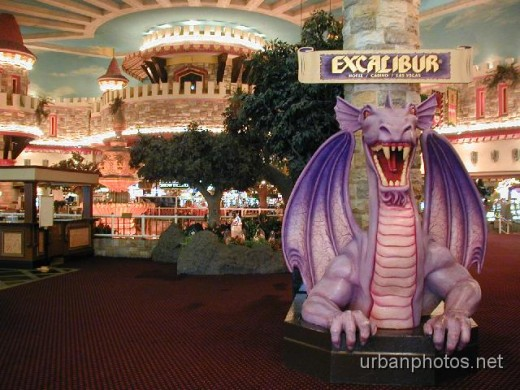 Excalibur's front lobby, just behind the doors shown in the above photo.