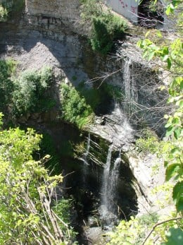 Buttermilk Falls (in Hamilton). Photo shows the front of the waterfall.