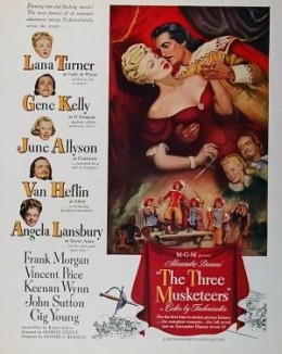 The Three Musketeers (1948)Action,Adventure,Drama,RomanceLana Turner and Gene Kelly