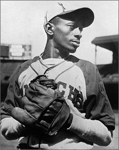 "Leroy ""Sachel"" Paige was born in Mobile, Alabama in 1906.  Before 1948, there was an unwritten rule against black players entering the major leagues.  With the Negro Leagues folding, under the pressure of  the major leagues abolishing the unwritten r"
