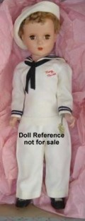 This is a Mary Martin Doll, fashioned like the character in South Pacific.  How nice!