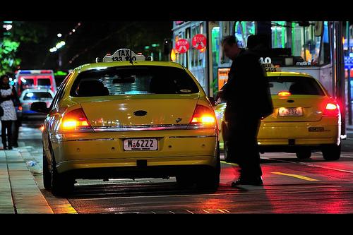 Melbourne Taxi in the CBD
