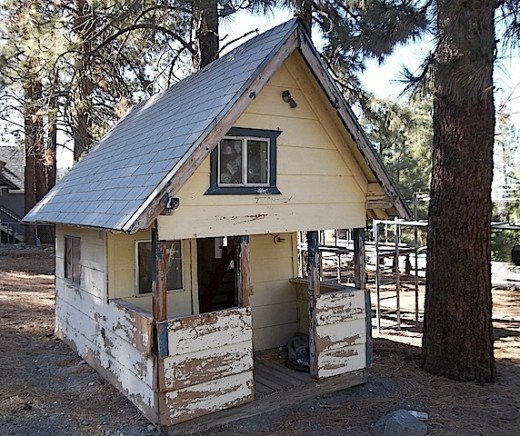 Even children abandon things.  This was found in a yard in Wrightwood, California