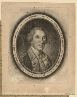 Portrait of George Washington printed and engraved by C.W. Peale (Photo courtesy of U.S. Library of Congress, Prints & Photographs Division,  reproduction number,[LC-DIG-ppmsca-17515])