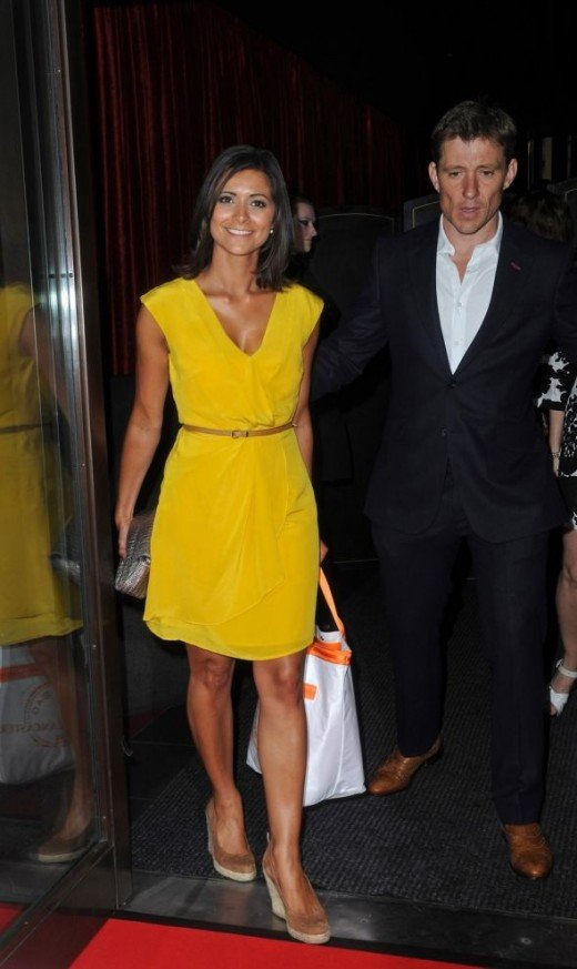 Lucy Verasamy in a canary yellow dress