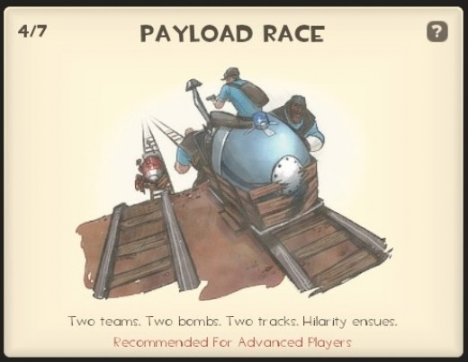 Payload race - each team has a payload and must reach the other base first.