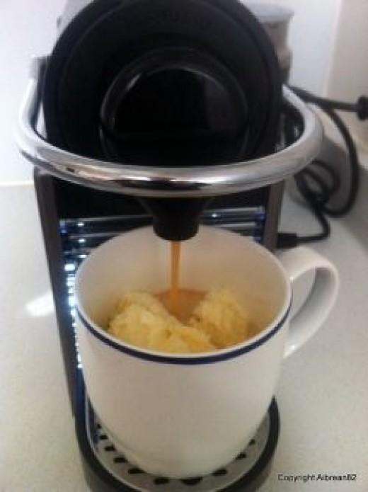 nespresso pixie, nespresso, ice cream, dessert, coffee, espresso
