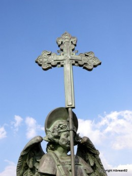Angel with cross, Astorga.