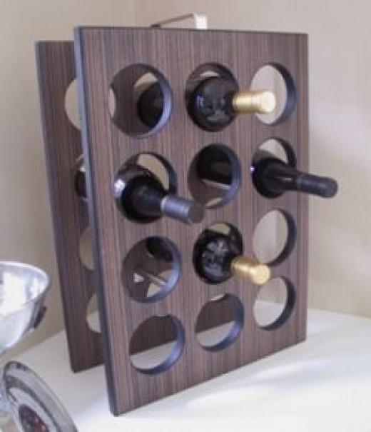 Wooden free standing 12 bottle wine rack