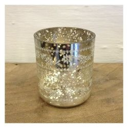 Sparkling Glass Tealight Holder by Nkuku