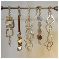 Silver Plated Interlocking Diamonds Bracelet